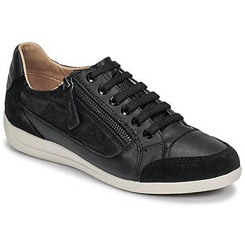 Παπούτσια Γυναίκα Χαμηλά Sneakers Geox D MYRIA Black