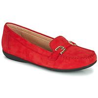 Παπούτσια Γυναίκα Μοκασσίνια Geox D ANNYTAH MOC Red / Gold
