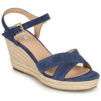 Παπούτσια Γυναίκα Σανδάλια / Πέδιλα Geox D SOLEIL Μπλέ