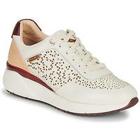 Παπούτσια Γυναίκα Χαμηλά Sneakers Pikolinos SELLA W6Z Άσπρο / Bordeaux