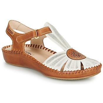 Παπούτσια Γυναίκα Σανδάλια / Πέδιλα Pikolinos P. VALLARTA 655 Άσπρο / Camel