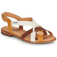 Παπούτσια Γυναίκα Σανδάλια / Πέδιλα Pikolinos ALGAR W0X Cognac / Άσπρο / Yellow