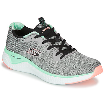 Παπούτσια Γυναίκα Fitness Skechers SOLAR FUSE BRISK ESCAPE Grey / Green / Ροζ