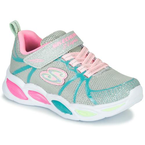 Παπούτσια Κορίτσι Χαμηλά Sneakers Skechers SHIMMER BEAMS Silver / Ροζ / Μπλέ
