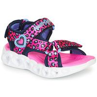 Παπούτσια Κορίτσι Σπορ σανδάλια Skechers HEART LIGHTS Ροζ / Black