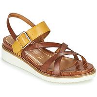 Παπούτσια Γυναίκα Σανδάλια / Πέδιλα Tamaris EDA Brown / Yellow