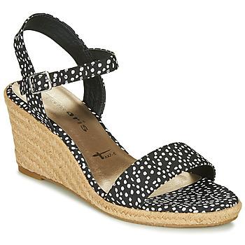 Παπούτσια Γυναίκα Σανδάλια / Πέδιλα Tamaris LIVIA Black / Άσπρο