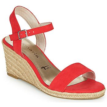 Παπούτσια Γυναίκα Σανδάλια / Πέδιλα Tamaris LIVIA Red