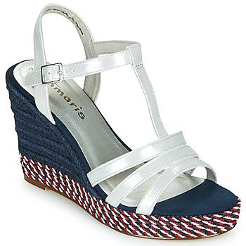 Παπούτσια Γυναίκα Σανδάλια / Πέδιλα Tamaris CYNARA Άσπρο / Marine / Red