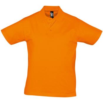 Υφασμάτινα Άνδρας Πόλο με κοντά μανίκια  Sols PRESCOTT CASUAL DAY Naranja
