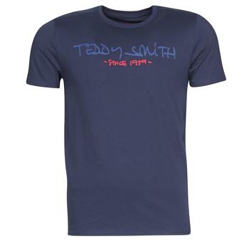 Υφασμάτινα Άνδρας T-shirt με κοντά μανίκια Teddy Smith TICLASS Marine