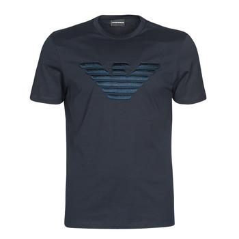 Υφασμάτινα Άνδρας T-shirt με κοντά μανίκια Emporio Armani DOUNIA Marine