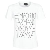 Υφασμάτινα Γυναίκα T-shirt με κοντά μανίκια Emporio Armani  Άσπρο