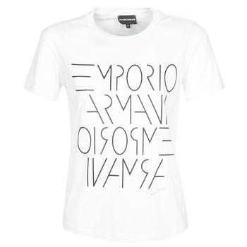 Υφασμάτινα Γυναίκα T-shirt με κοντά μανίκια Emporio Armani DONOVANN Άσπρο