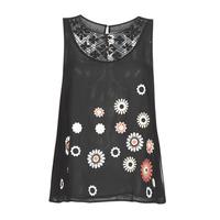 Υφασμάτινα Γυναίκα Αμάνικα / T-shirts χωρίς μανίκια Desigual TEBAS Black