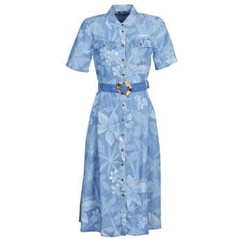 Υφασμάτινα Γυναίκα Μακριά Φορέματα Desigual KATE Μπλέ
