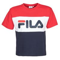 Υφασμάτινα Γυναίκα T-shirt με κοντά μανίκια Fila ALLISON Marine / Red / Άσπρο