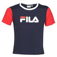 Υφασμάτινα Γυναίκα T-shirt με κοντά μανίκια Fila Salome Marine / Red