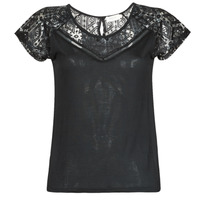 Υφασμάτινα Γυναίκα T-shirt με κοντά μανίκια Deeluxe CLEA Black
