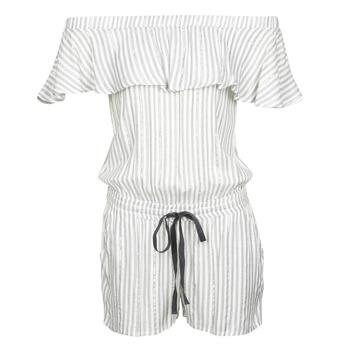 Υφασμάτινα Γυναίκα Ολόσωμες φόρμες / σαλοπέτες Deeluxe FAYME Άσπρο / Μπλέ