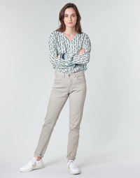 Υφασμάτινα Γυναίκα Παντελόνια Πεντάτσεπα Cream ANNIE Grey
