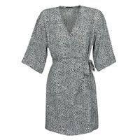 Υφασμάτινα Γυναίκα Κοντά Φορέματα Ikks BQ30415-03 Black / Άσπρο