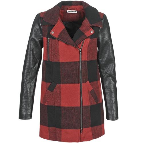 Υφασμάτινα Γυναίκα Παλτό Noisy May TEXAS Red / Black