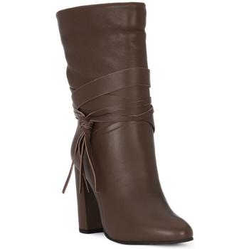 Παπούτσια Γυναίκα Μπότες για την πόλη Café Noir CAFE NOIR TRONCHETTO NAPPINA Marrone