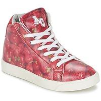 Παπούτσια Κορίτσι Ψηλά Sneakers American College RED Red