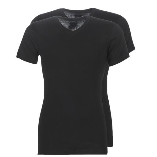 Υφασμάτινα Άνδρας T-shirt με κοντά μανίκια Athena T SHIRT COL V Black