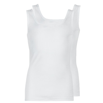 Υφασμάτινα Άνδρας Αμάνικα / T-shirts χωρίς μανίκια Athena COTON BIO Άσπρο