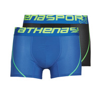 Εσώρουχα Άνδρας Boxer Athena AIR PERFORMANCE PACK X2 Black / Μπλέ