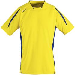 Υφασμάτινα Άνδρας T-shirt με κοντά μανίκια Sols MARACANA 2 SSL SPORT Amarillo