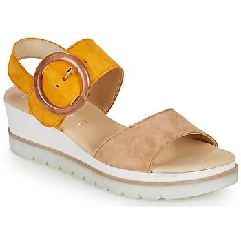 Παπούτσια Γυναίκα Σανδάλια / Πέδιλα Gabor KOKREM Beige / Yellow