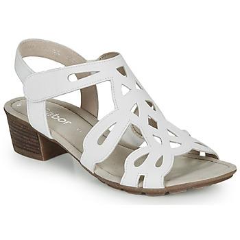 Παπούτσια Γυναίκα Σανδάλια / Πέδιλα Gabor KELELE Άσπρο