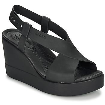 Παπούτσια Γυναίκα Σανδάλια / Πέδιλα Crocs CROCS BROOKLYN HIGH WEDGE W Black