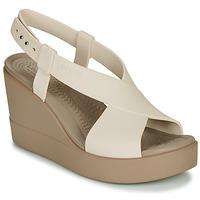Παπούτσια Γυναίκα Σανδάλια / Πέδιλα Crocs CROCS BROOKLYN HIGH WEDGE W Beige