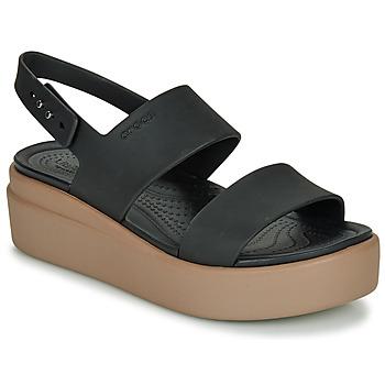 Παπούτσια Γυναίκα Σανδάλια / Πέδιλα Crocs CROCS BROOKLYN LOW WEDGE W Black / Camel