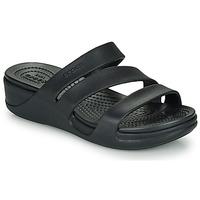 Παπούτσια Γυναίκα Τσόκαρα Crocs CROCS MONTEREY WEDGE W Black