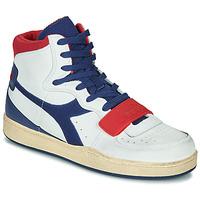Παπούτσια Άνδρας Ψηλά Sneakers Diadora MI BASKET USED Άσπρο / Μπλέ / Red