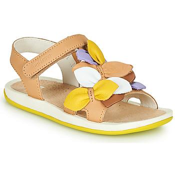 Παπούτσια Παιδί Σανδάλια / Πέδιλα Camper TWINS Brown / Yellow