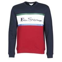 Υφασμάτινα Άνδρας Φούτερ Ben Sherman COLOUR BLOCKED LOGO SWEAT Marine / Red