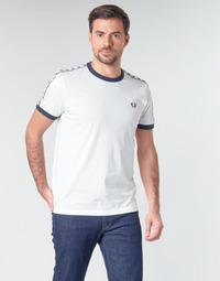 Υφασμάτινα Άνδρας T-shirt με κοντά μανίκια Fred Perry TAPED RINGER T-SHIRT Άσπρο
