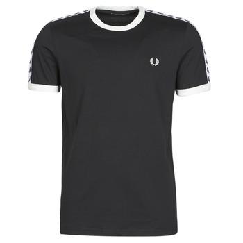 Υφασμάτινα Άνδρας T-shirt με κοντά μανίκια Fred Perry TAPED RINGER T-SHIRT Black