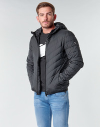 Υφασμάτινα Άνδρας Μπουφάν Emporio Armani EA7 TRAIN CORE SHIELD M DOWN LIGHT HOODIE JACKET Black