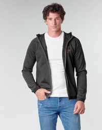 Υφασμάτινα Άνδρας Μπουφάν Emporio Armani EA7 TRAIN SOCCER M HOODIE FZ PL INTERLOCK Black / Gold