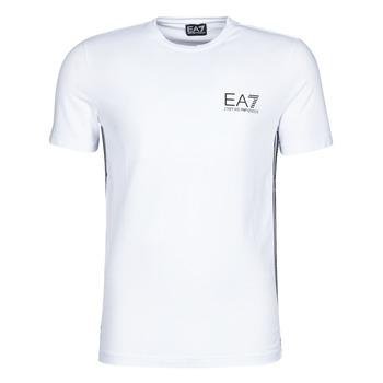 Υφασμάτινα Άνδρας T-shirt με κοντά μανίκια Emporio Armani EA7 TRAIN LOGO SERIES M TAPE TEE ST Άσπρο