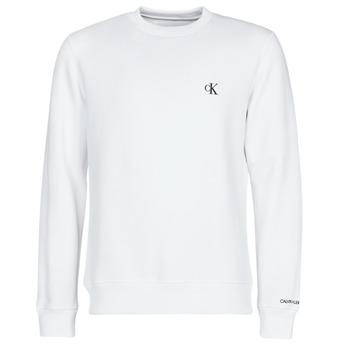 Υφασμάτινα Άνδρας Φούτερ Calvin Klein Jeans CK ESSENTIAL REG CN Άσπρο