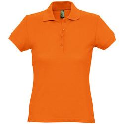 Υφασμάτινα Γυναίκα Πόλο με κοντά μανίκια  Sols PASSION WOMEN COLORS Naranja