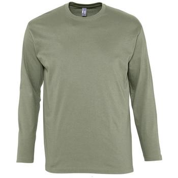 Υφασμάτινα Άνδρας Μπλουζάκια με μακριά μανίκια Sols MONARCH COLORS MEN Beige